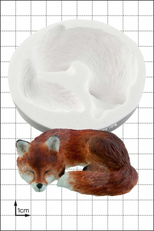 'Fox Sleeping' Silicone Mould